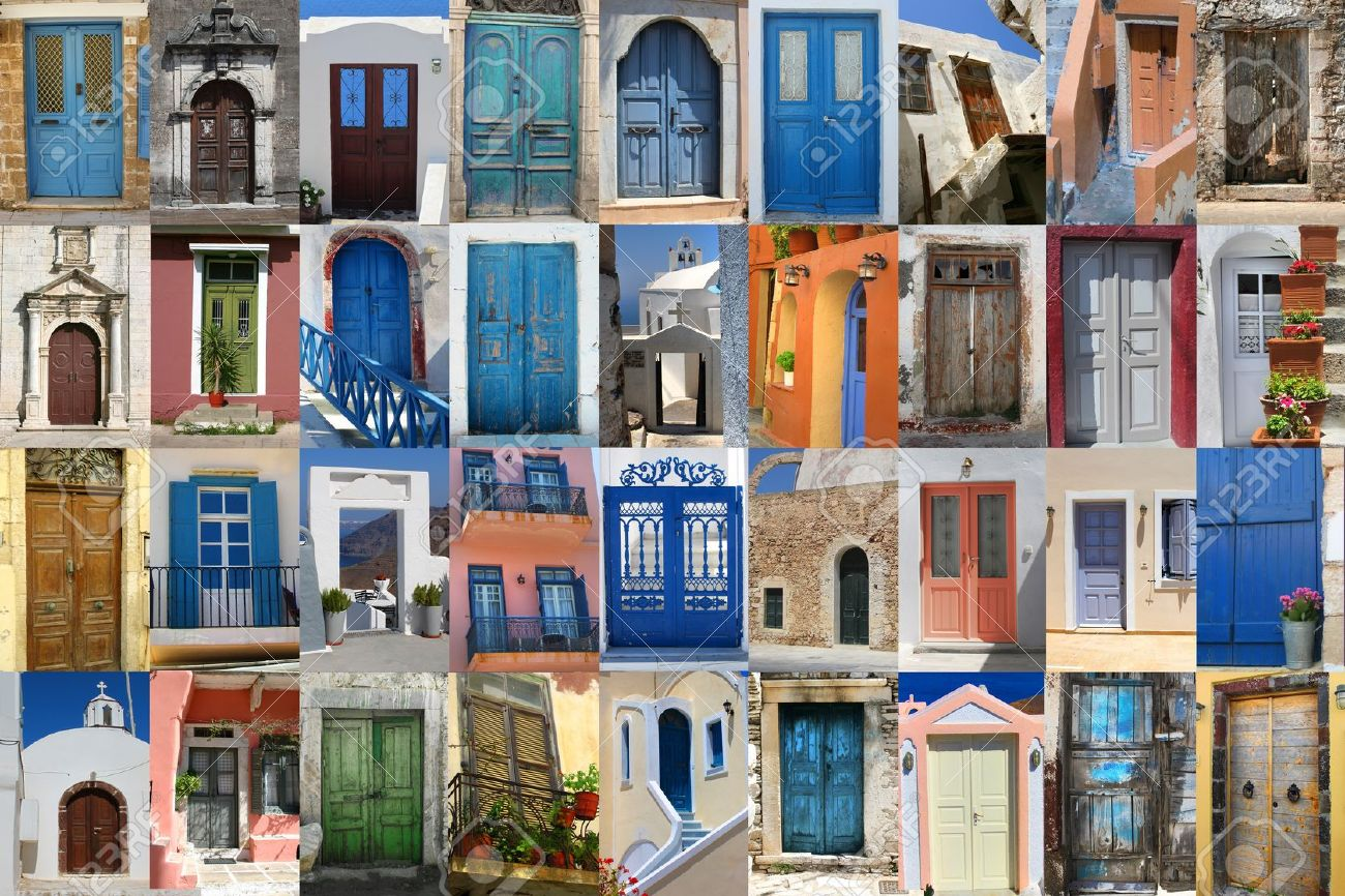 Golorful Greek doors collection compilation Stock Photo - 10072056 & Golorful Greek Doors Collection Compilation Stock Photo Picture And ...