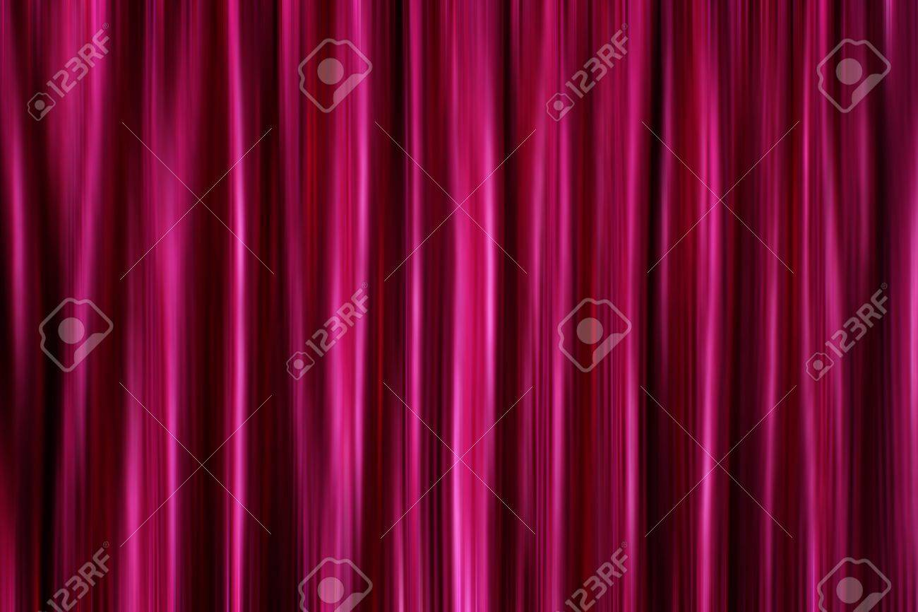 Purple Silky Satin Curtains Drapery Background Stock Photo