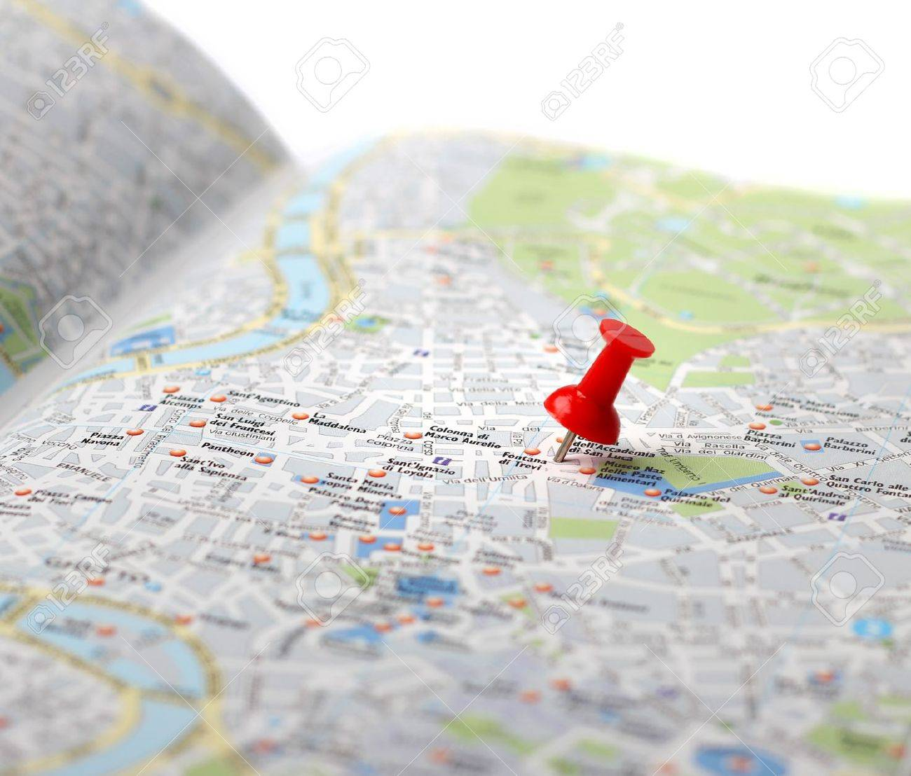 Map of city in perspective with pin maps Vector   Free Download