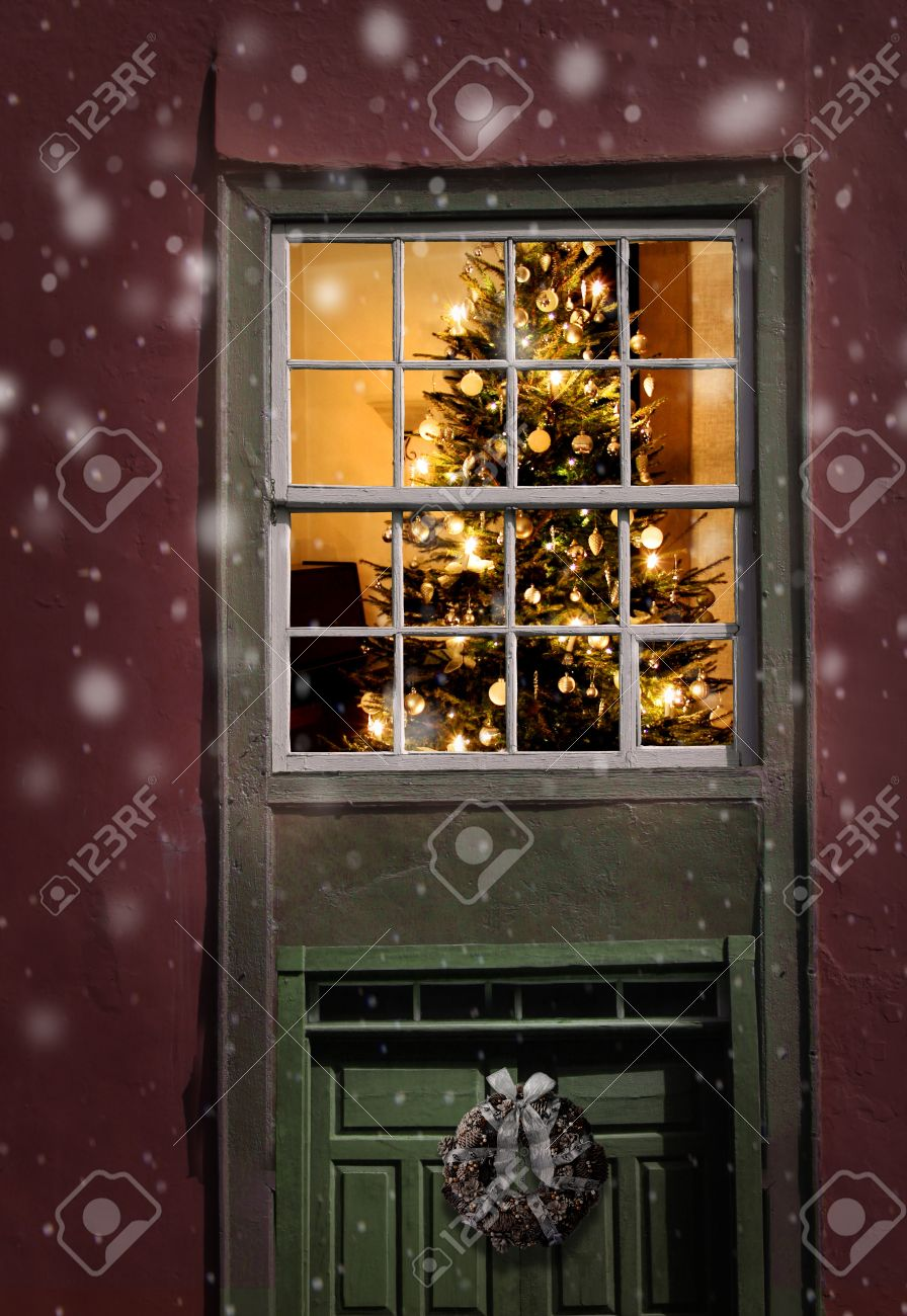 Outside Window Decorations Outside Christmas Decorations Stock Photos Pictures Royalty