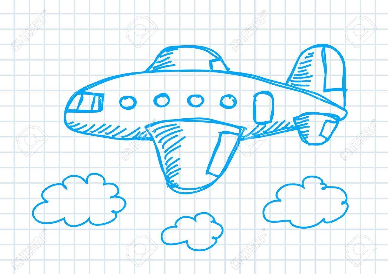 Drawing of aircraft Stock Vector - 11944445