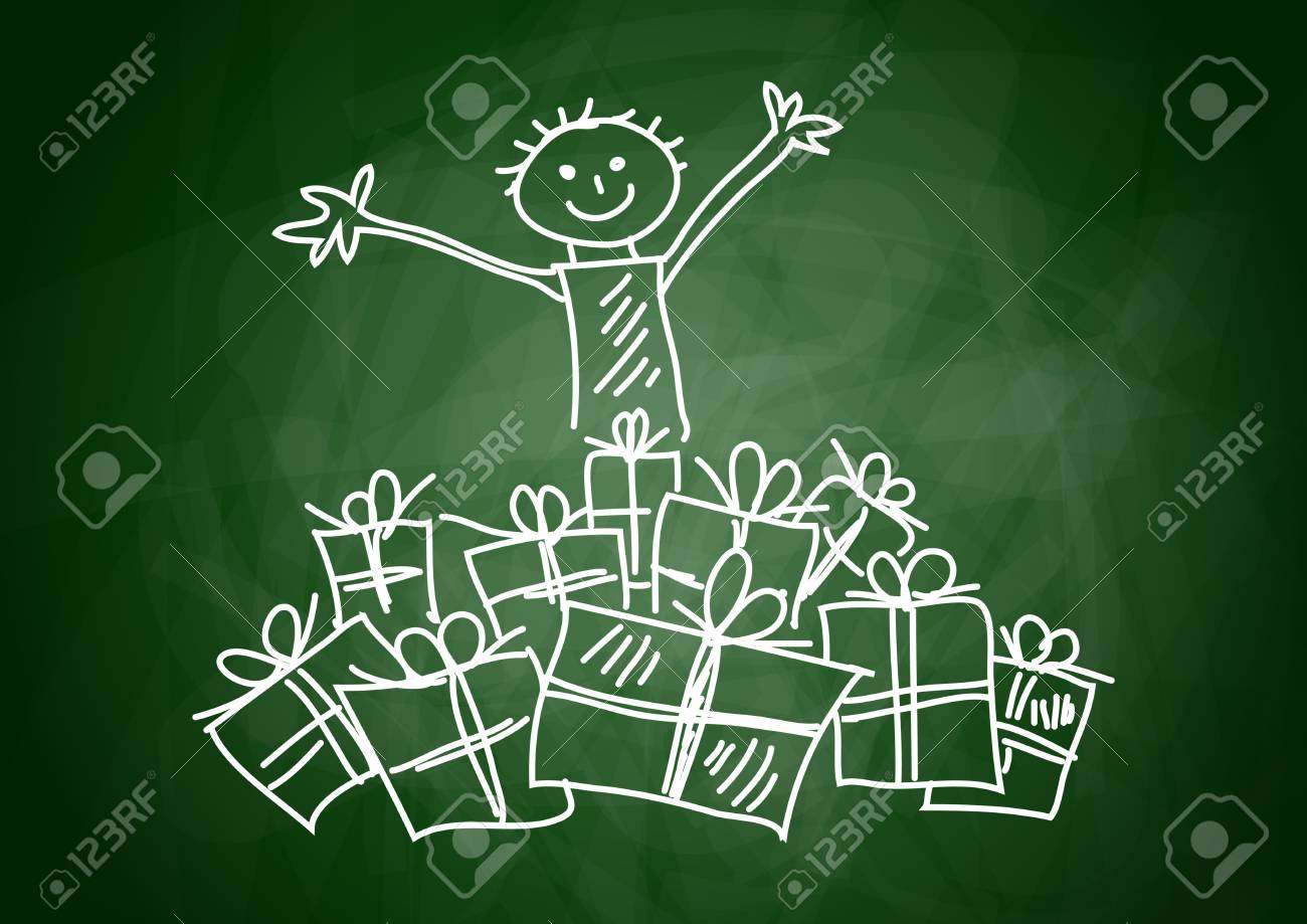 Child with presents Stock Vector - 12063184