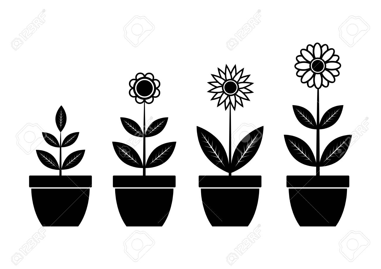 Icons of flowers Stock Vector - 12063181