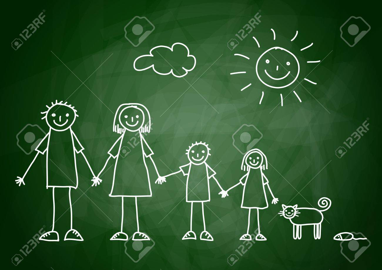 Drawing of family Stock Vector - 12063169