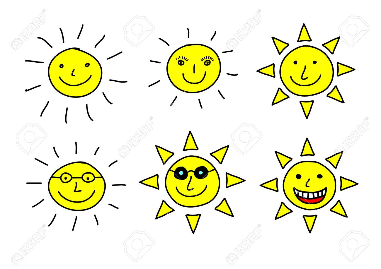 Drawing of sun Stock Vector - 12220193