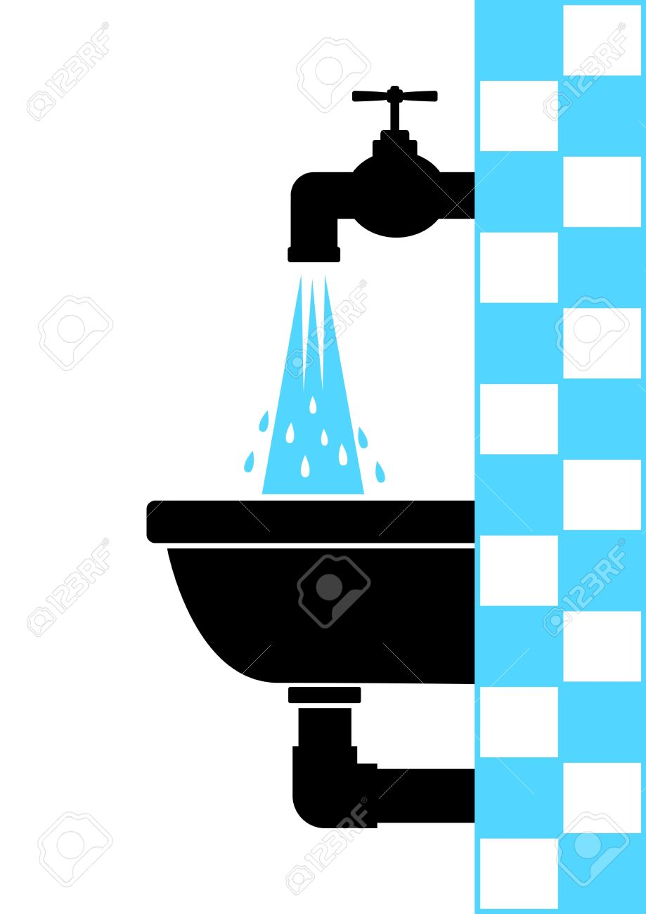 Washbasin with tap Stock Vector - 12220239
