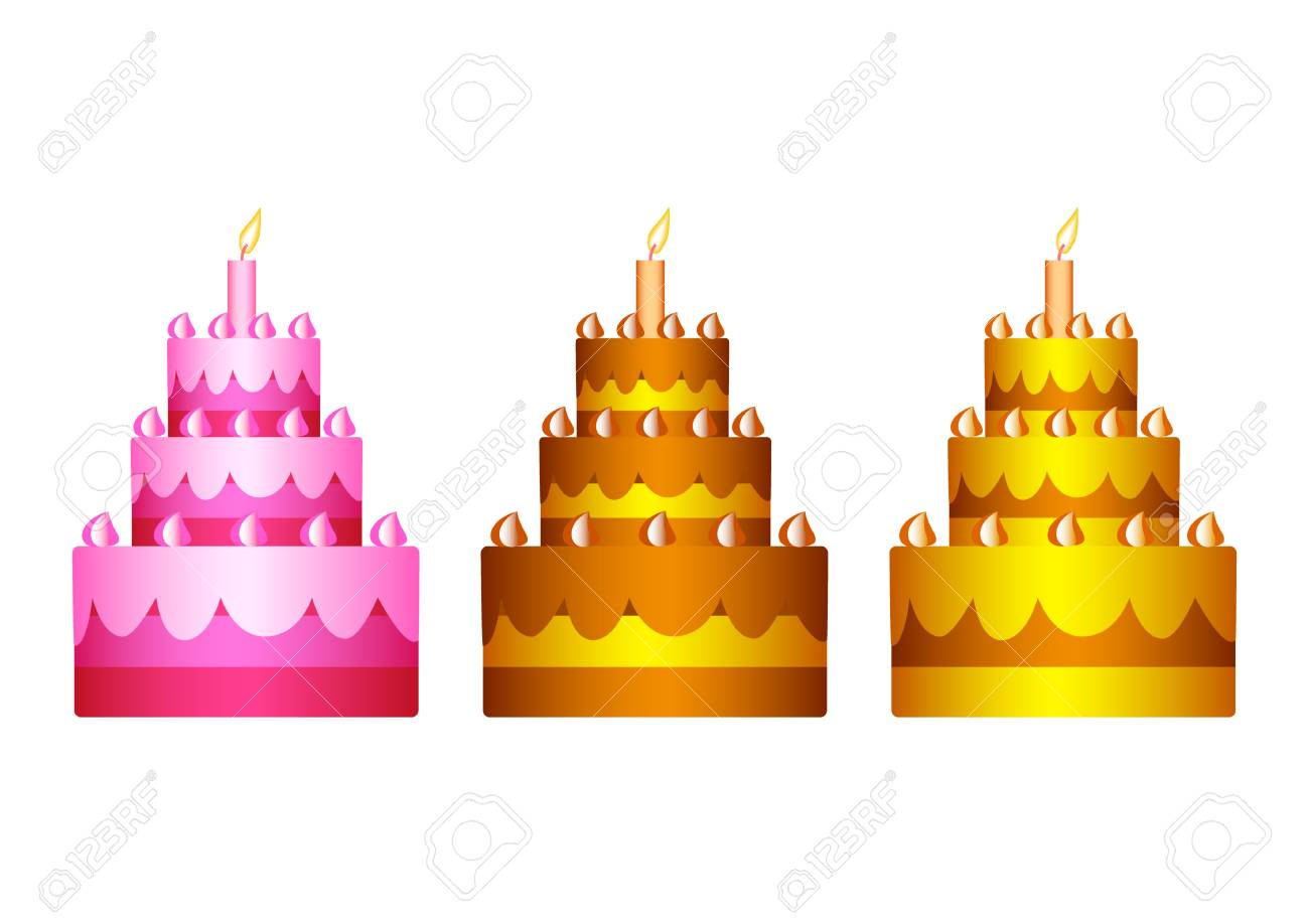 Collection of cakes Stock Vector - 12220446
