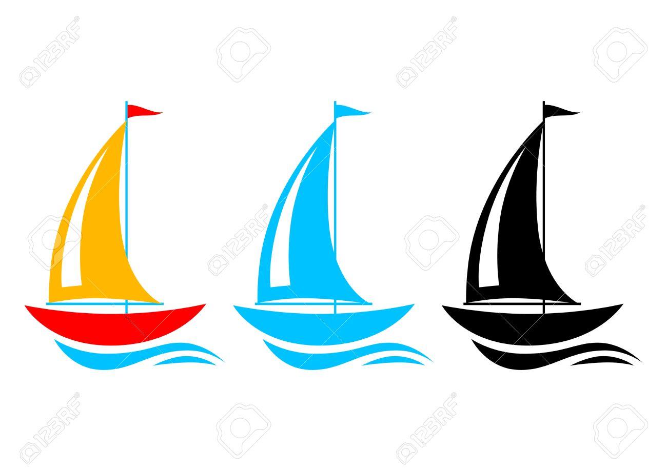 sailboat icons royalty free cliparts vectors and stock rh 123rf com free sailboat clipart images