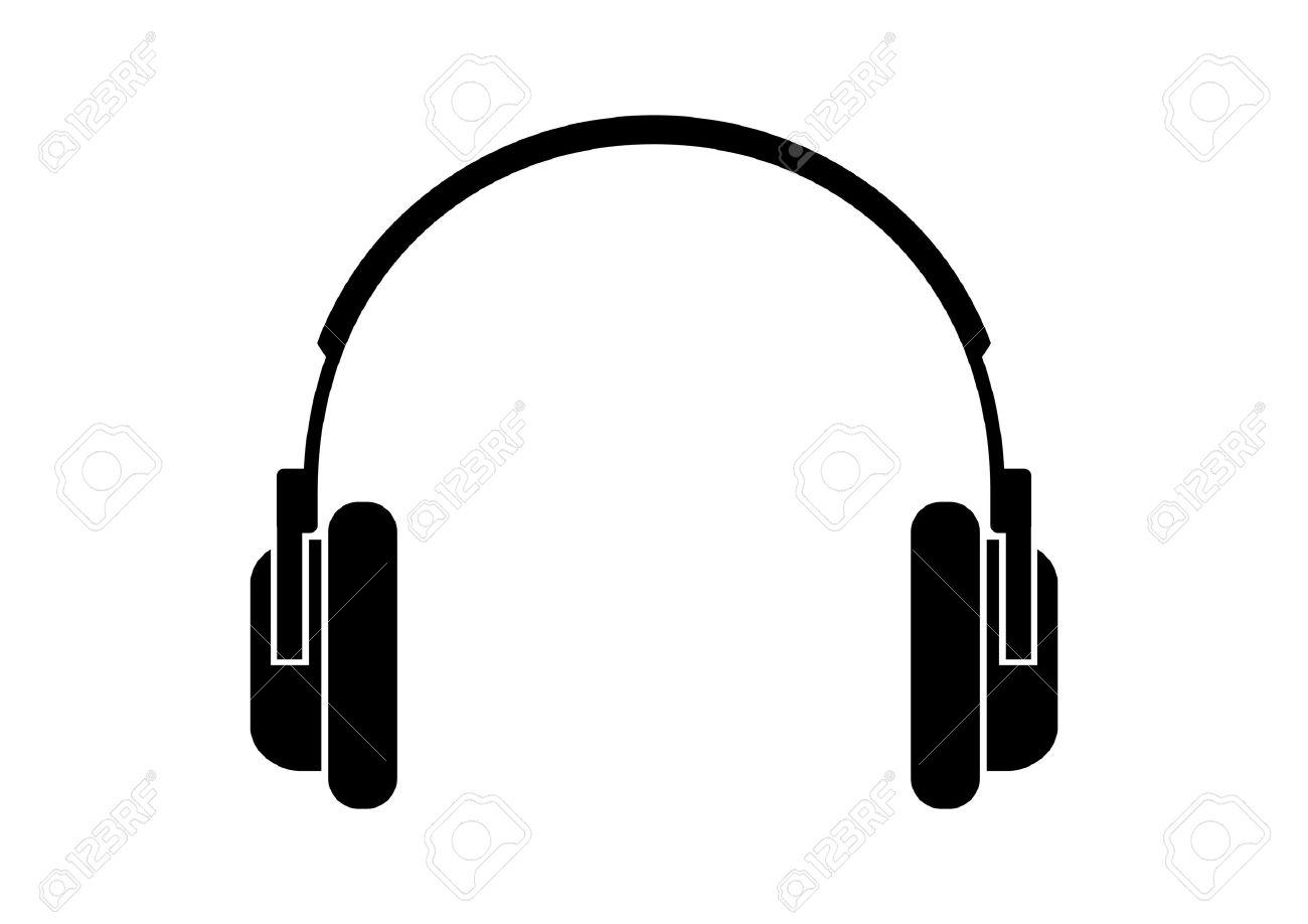 headphones icon royalty free cliparts vectors and stock rh 123rf com headphones vector logo headphones vector free download