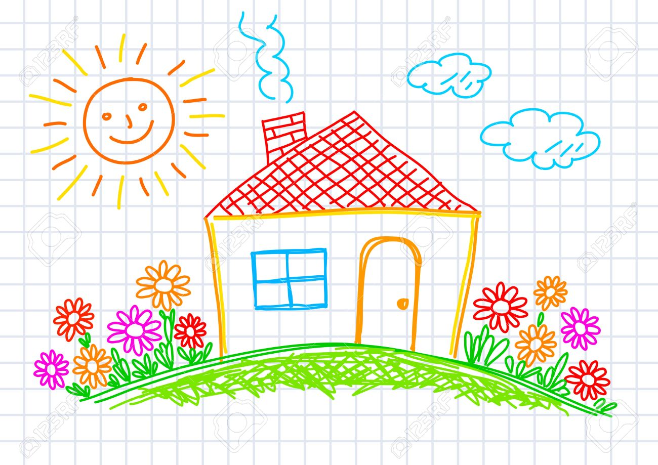 Drawing Of House On Squared Paper oyalty Free liparts, Vectors ... - ^