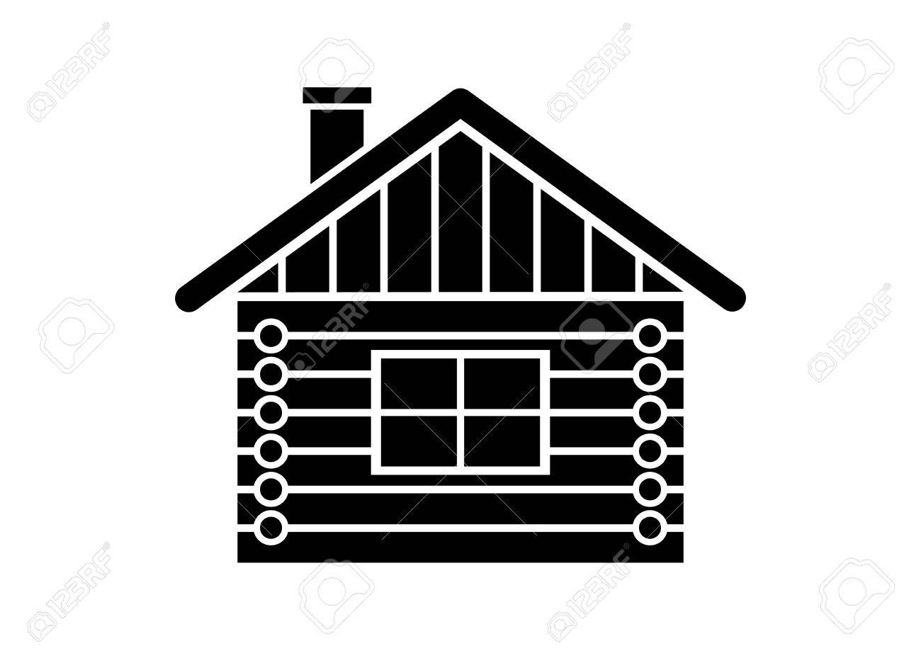Log House Icon Royalty Free Cliparts, Vectors, And Stock ...