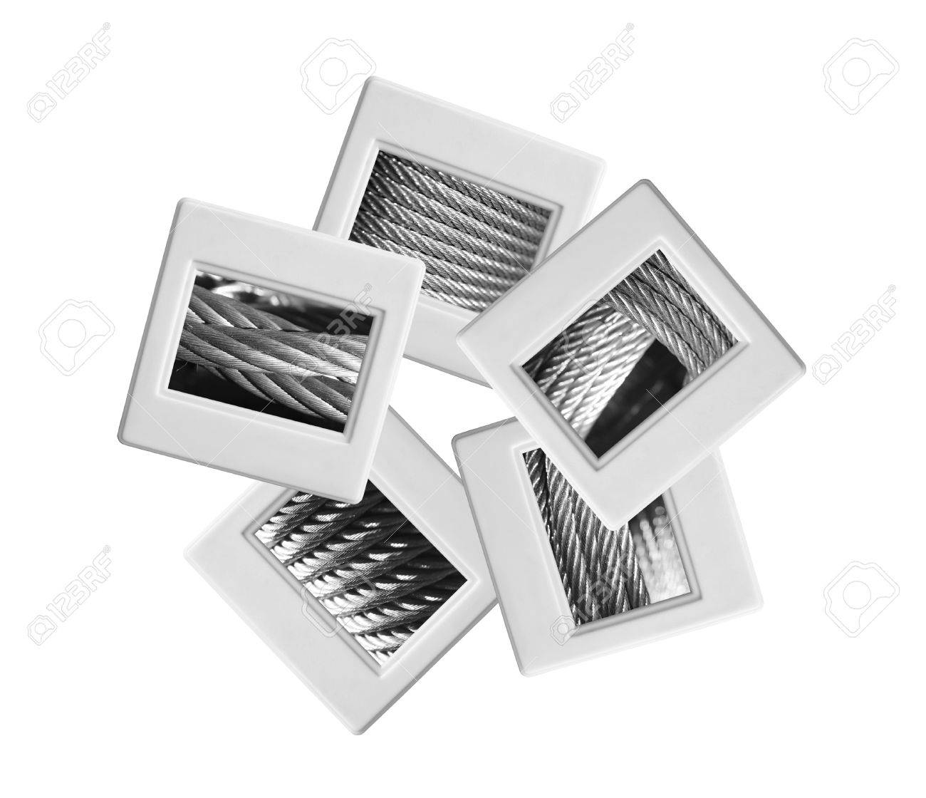 industrial slides on white background stock photo picture and