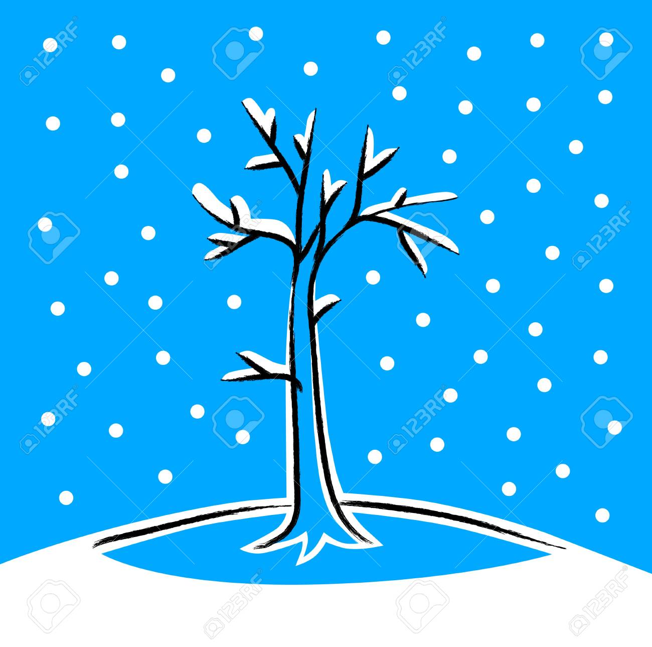 Winter tree Stock Vector - 16666853