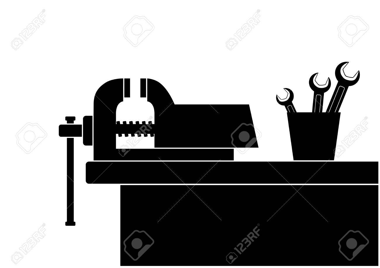 Work Table With Vice Royalty Free Cliparts, Vectors, And Stock ...