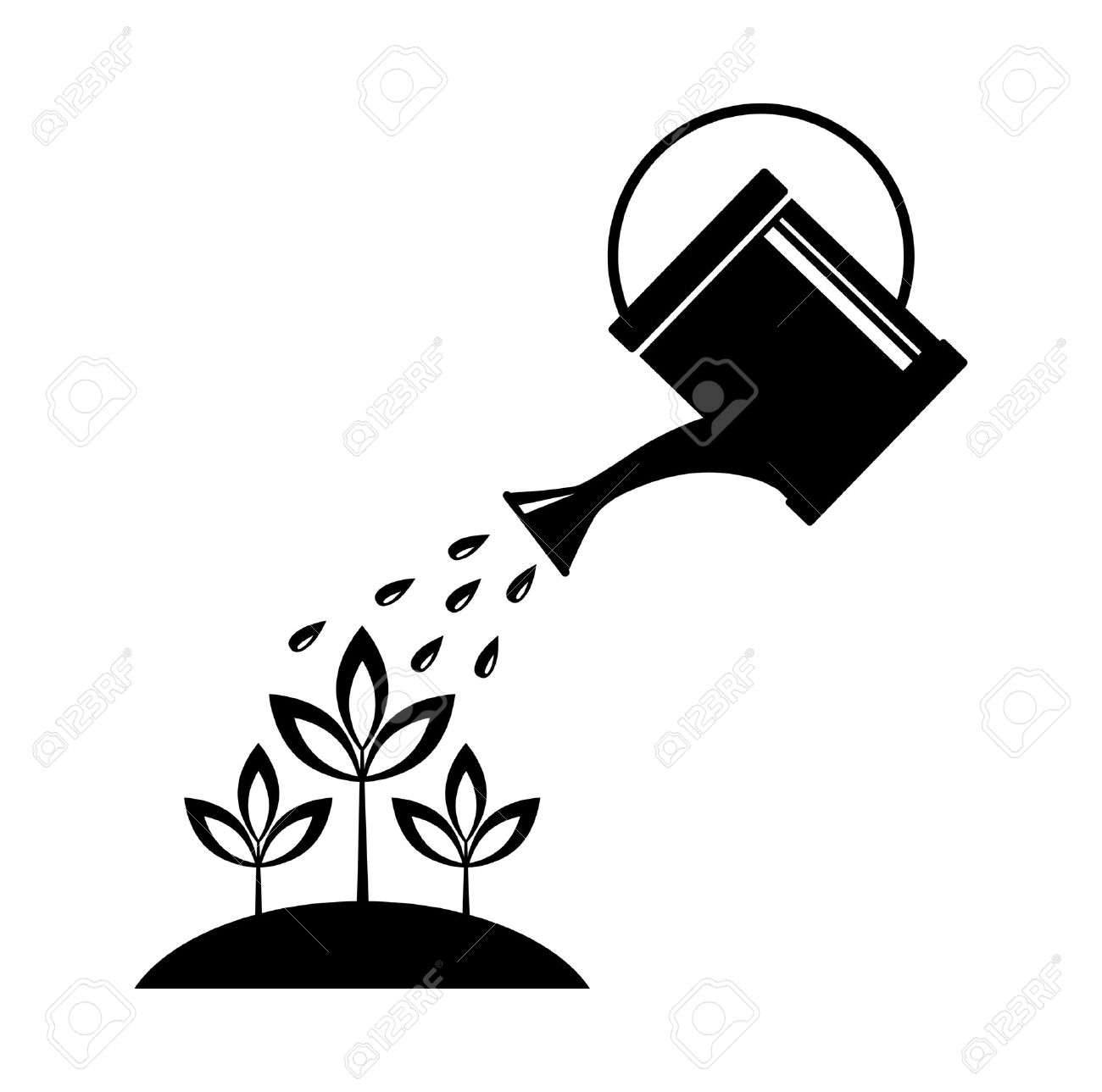 Watering can Stock Vector - 16666854
