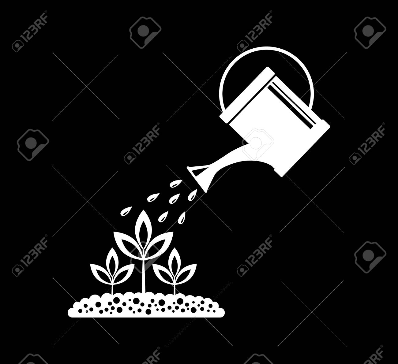 Watering can Stock Vector - 17536844