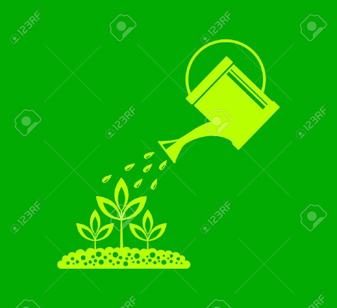 Watering can Stock Vector - 17536846