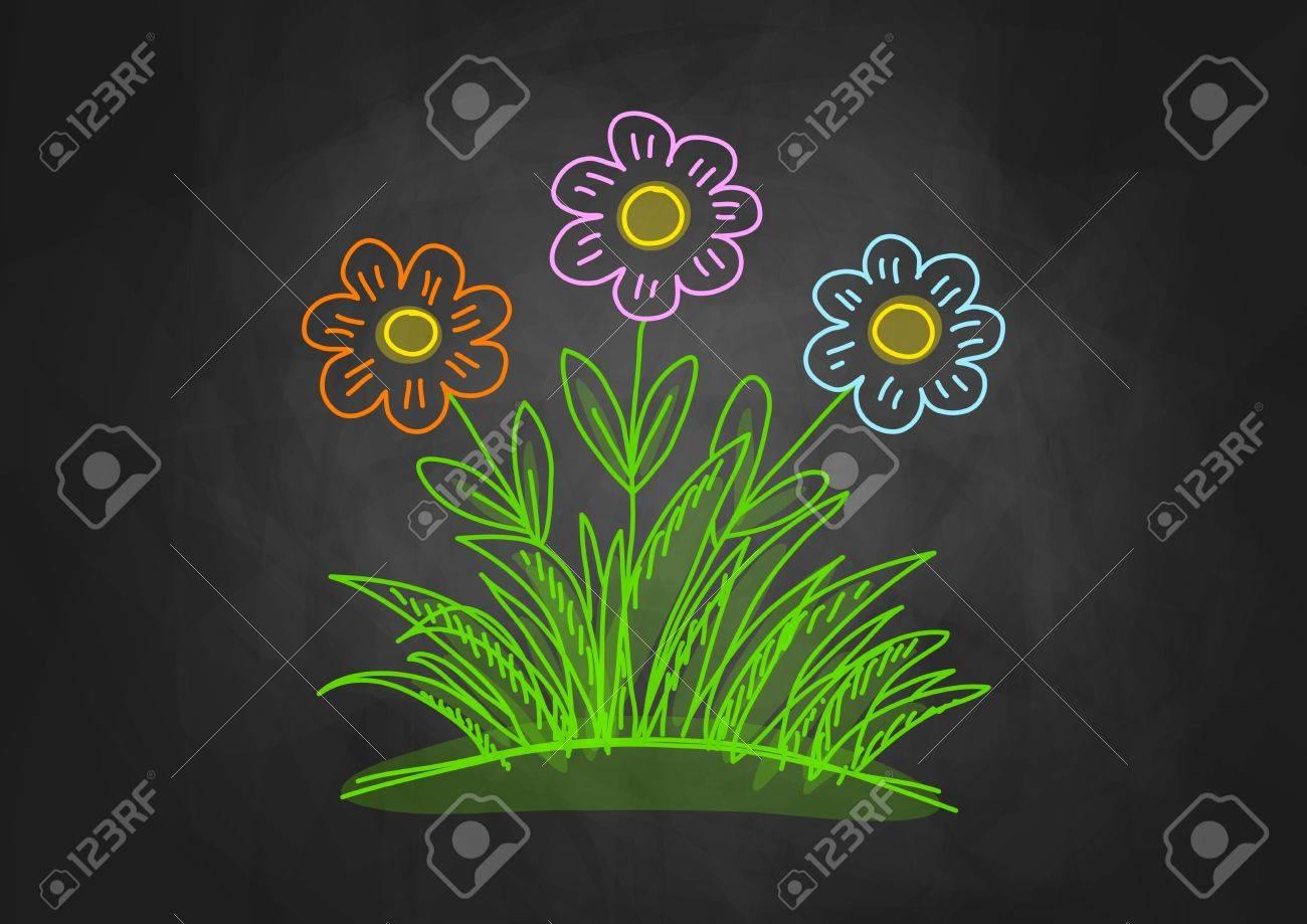 Chalkboard Flower Clip Art Clipart: Chalkboard | Etsy | Chalkboard flowers,  Chalkboard drawings, Chalkboard art