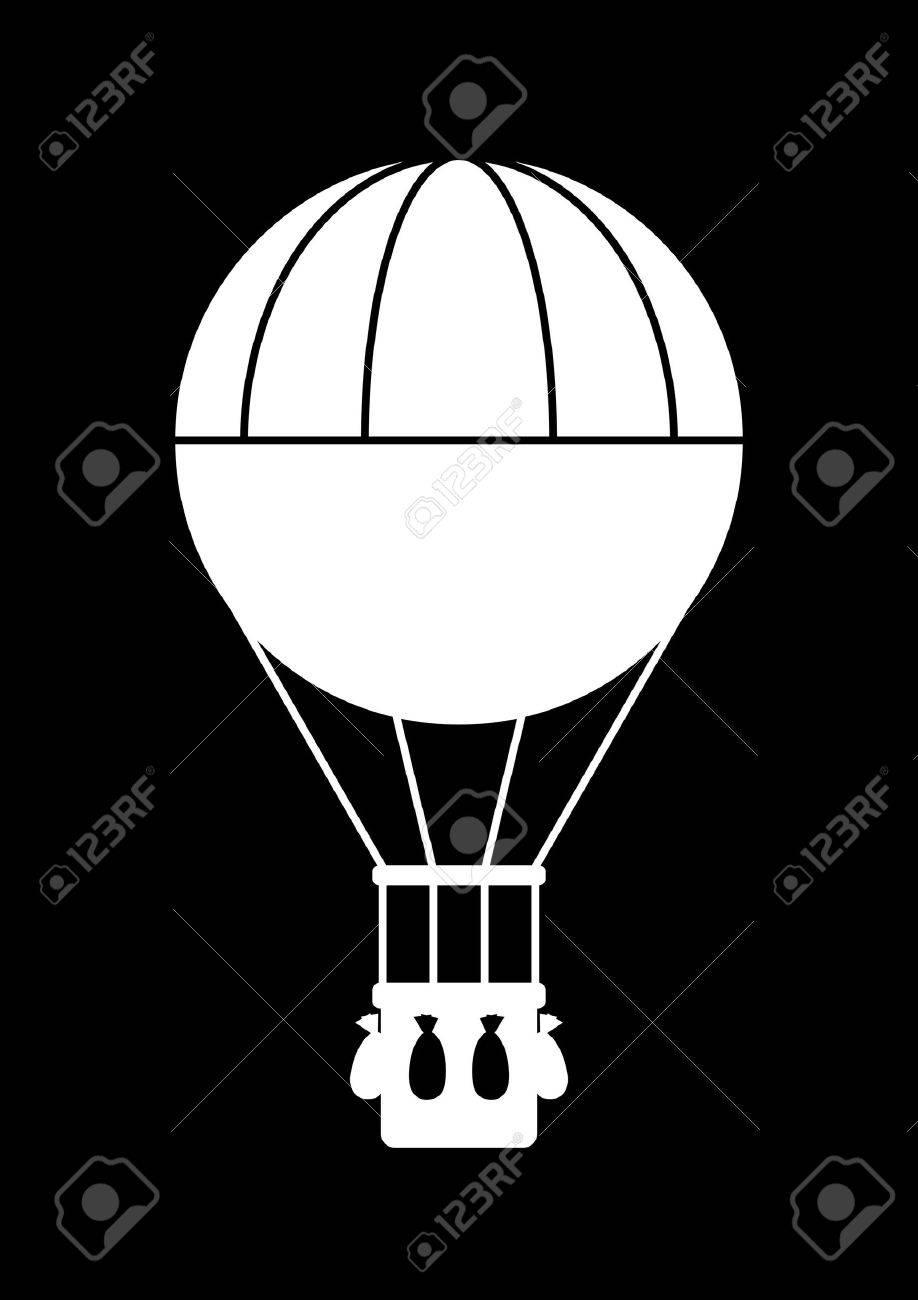 Hot air balloon icon - 19138486