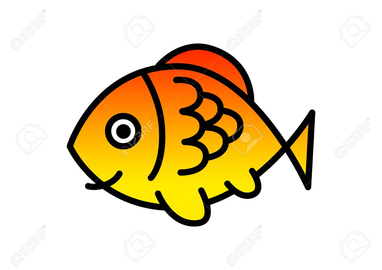 Fish drawing stock vector 19657671