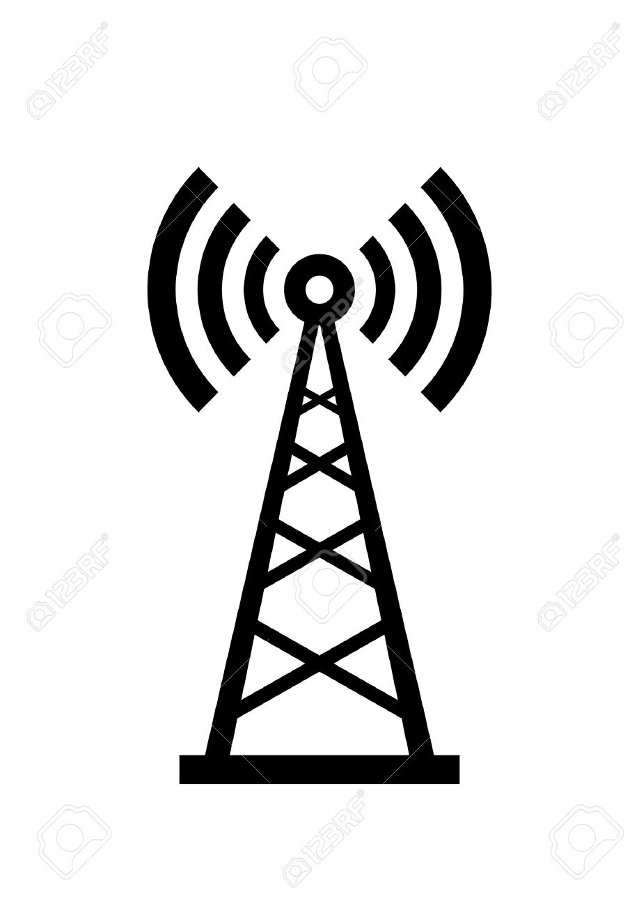 Broadcast Tower Vector 24442033-Transmitter-icon--