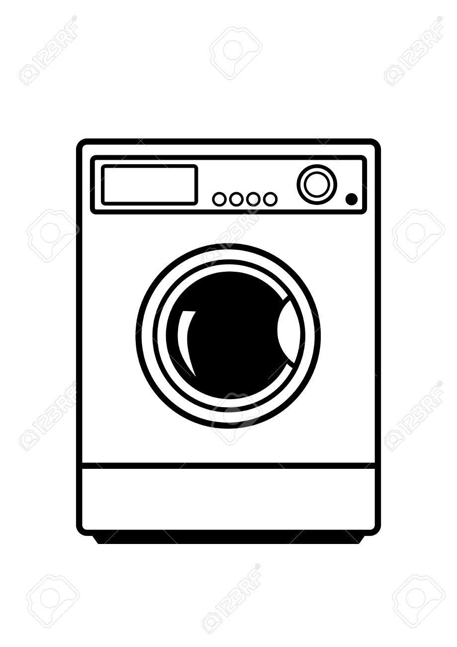 Waschmaschine clipart  Waschmaschine Auf Weißem Hintergrund Lizenzfrei Nutzbare ...