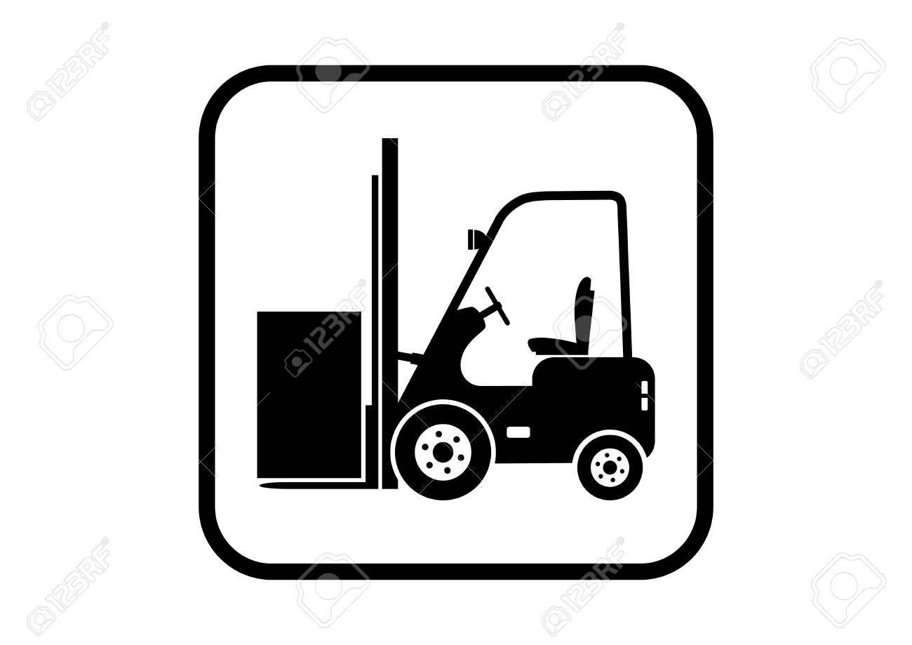 Gabelstapler-Vektor-Symbol Auf Weißem Hintergrund Lizenzfrei ...