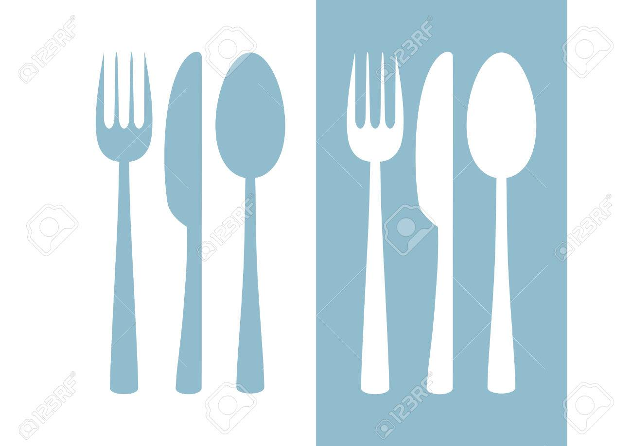 Cutlery Vector Icon On White Background Royalty Free Cliparts ...