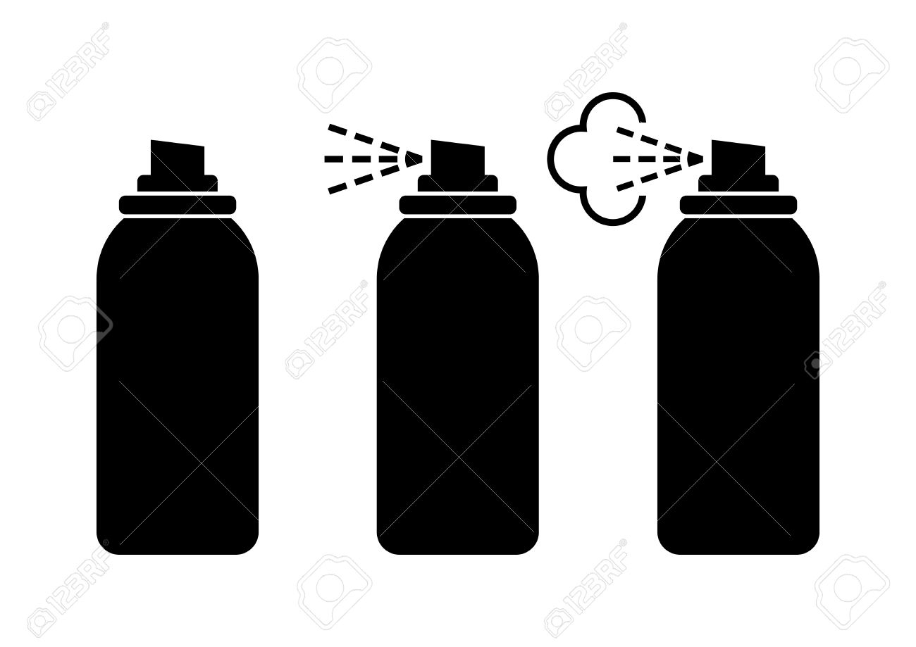 black spray can icons on white background royalty free cliparts rh 123rf com spray paint can vector free spray can splatter vector
