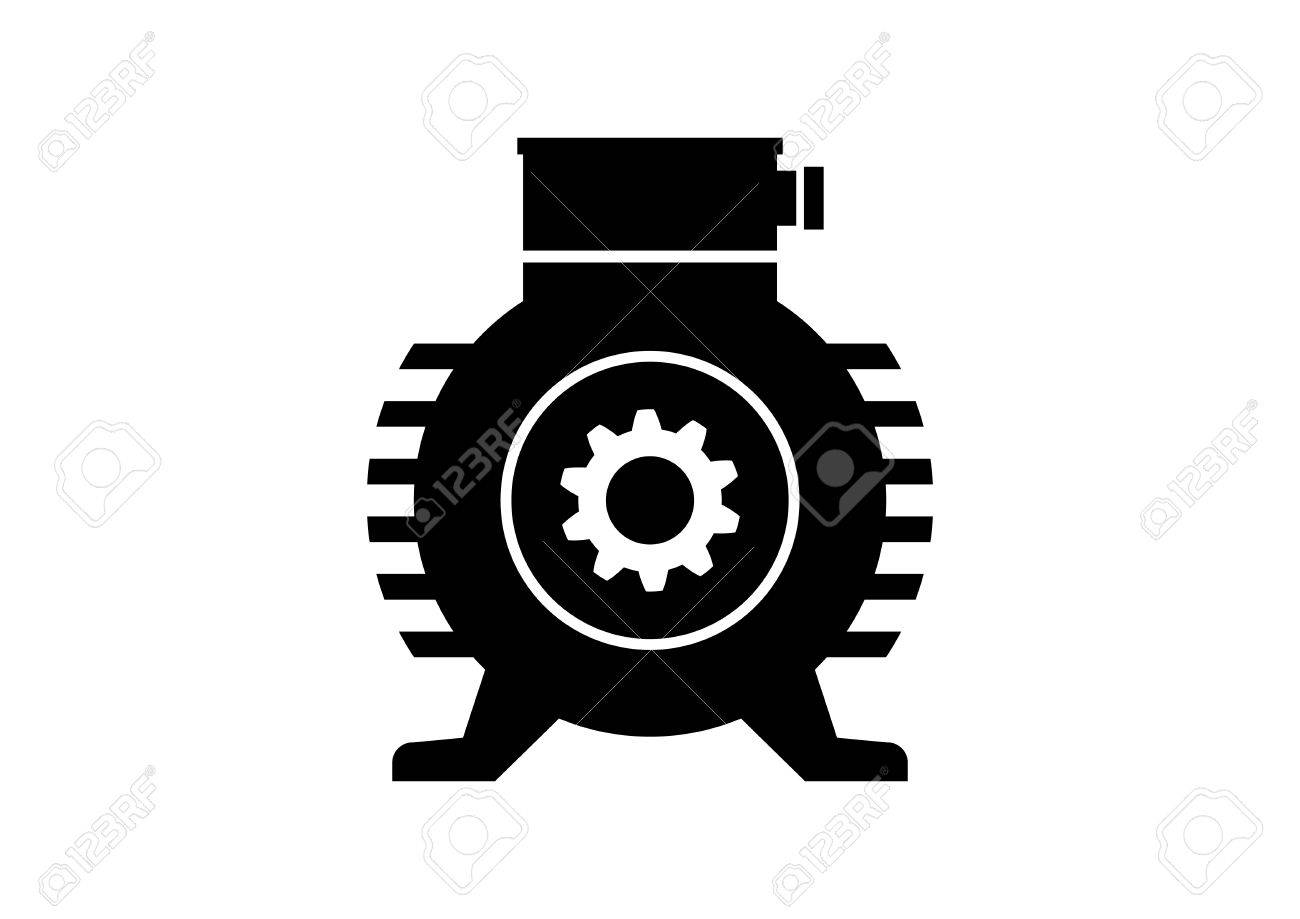 Electric Motor Icon On White Background Royalty Free Cliparts ... for Electric Motor Symbol  587fsj