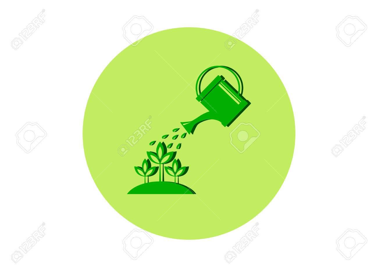 Green garden icon