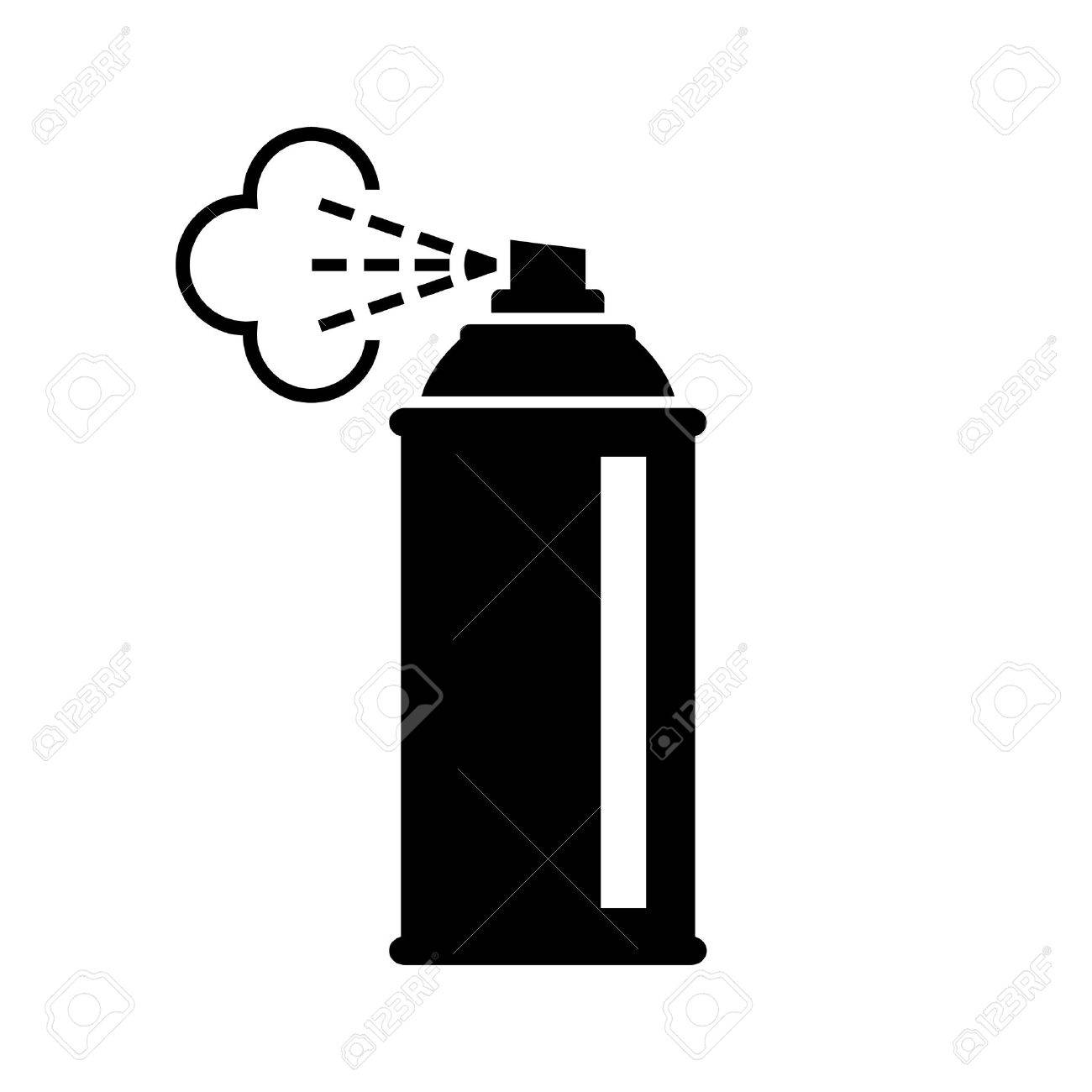 black spray can icon on white background royalty free cliparts rh 123rf com spray can splatter vector spray can vector free download