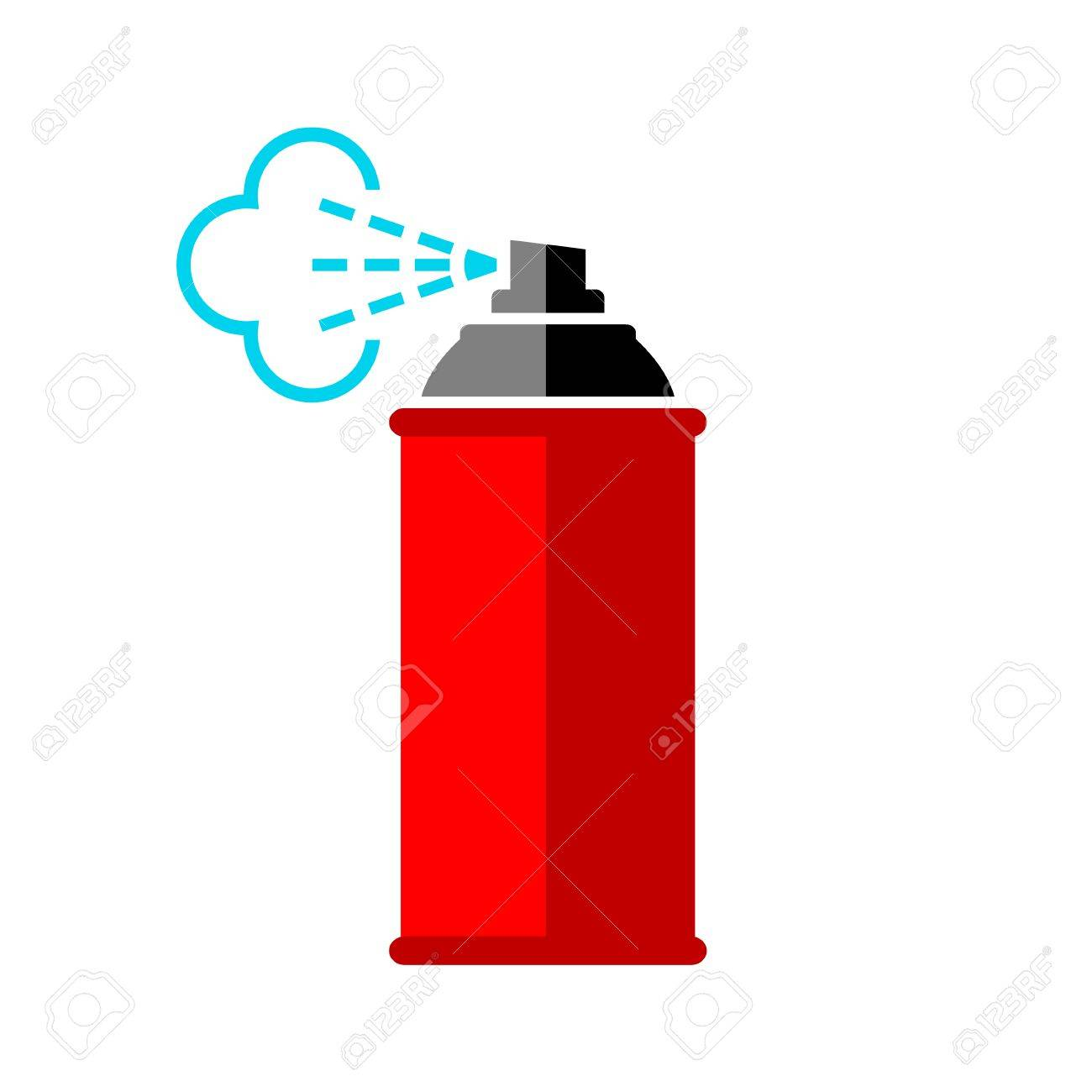 Red spray can icon on white background - 53929075