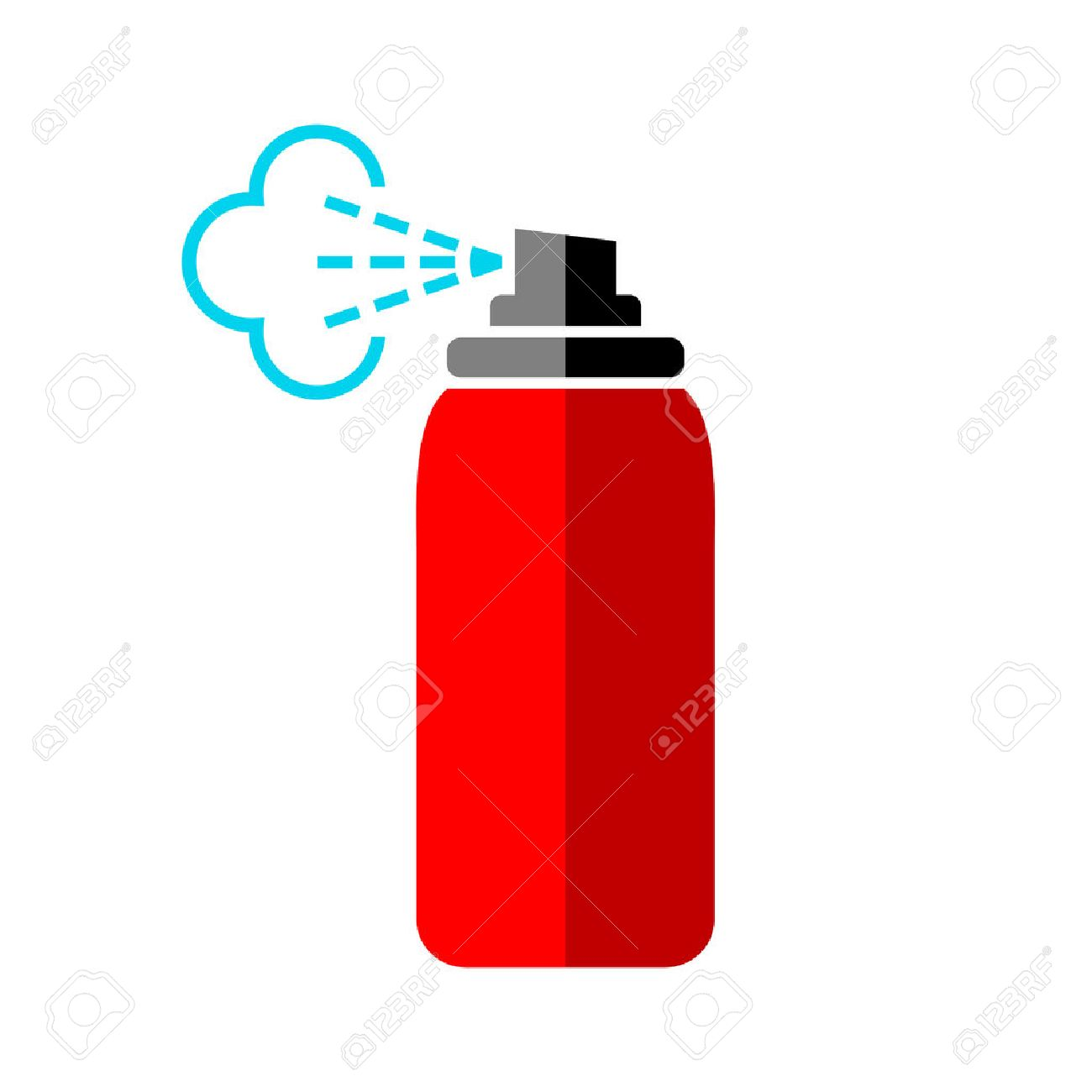 Red spray can icon on white background - 53929100
