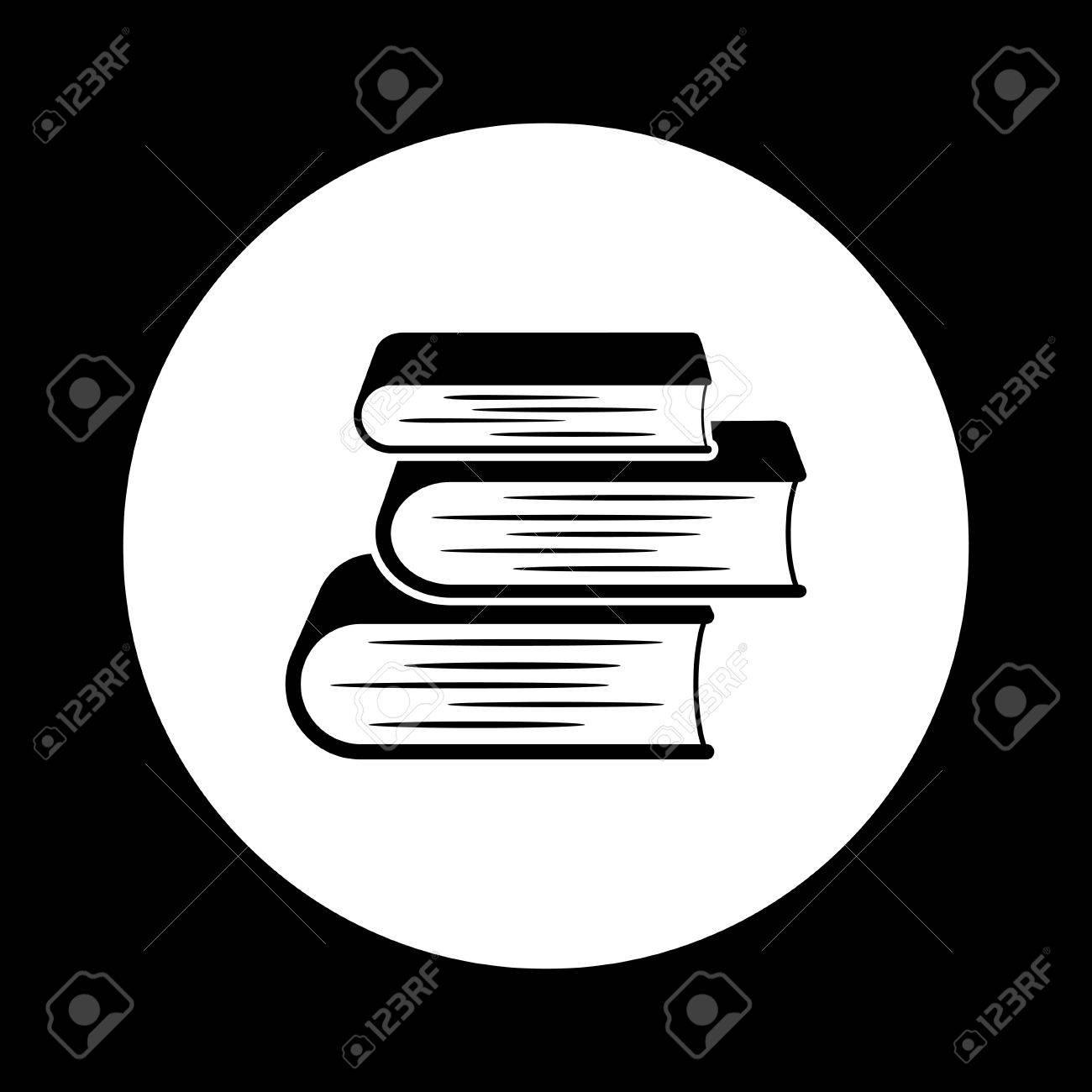 Icone De Livre Noir Et Blanc