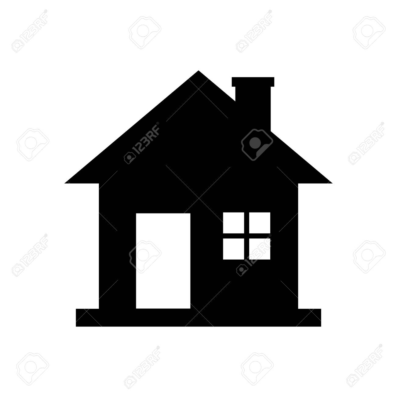8fc6210a497c Black House Icon On White Background Royalty Free Cliparts, Vectors ...