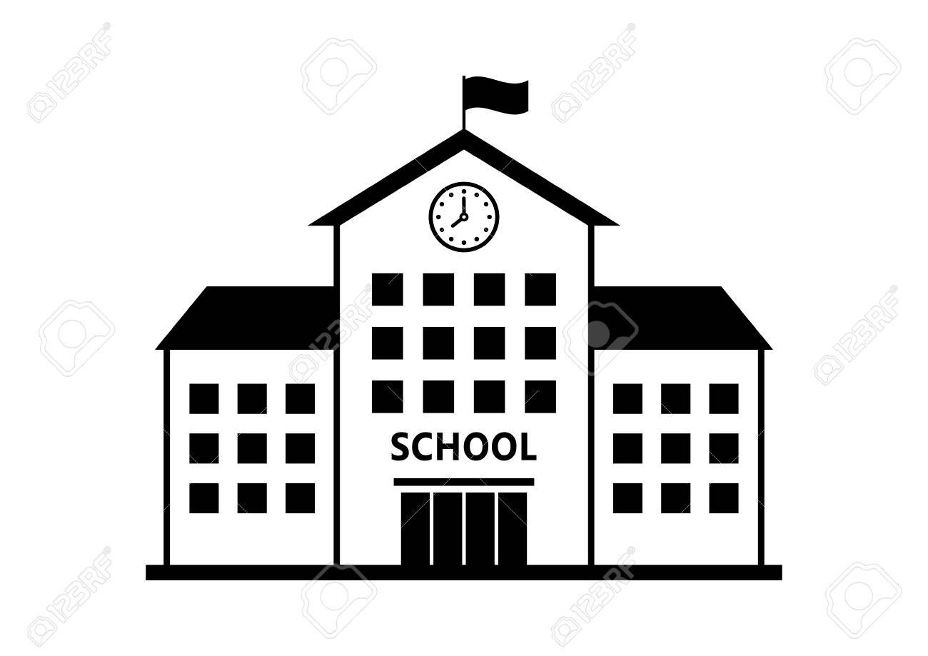 school vector icon isolated building on white background royalty rh 123rf com school victorian day school rector