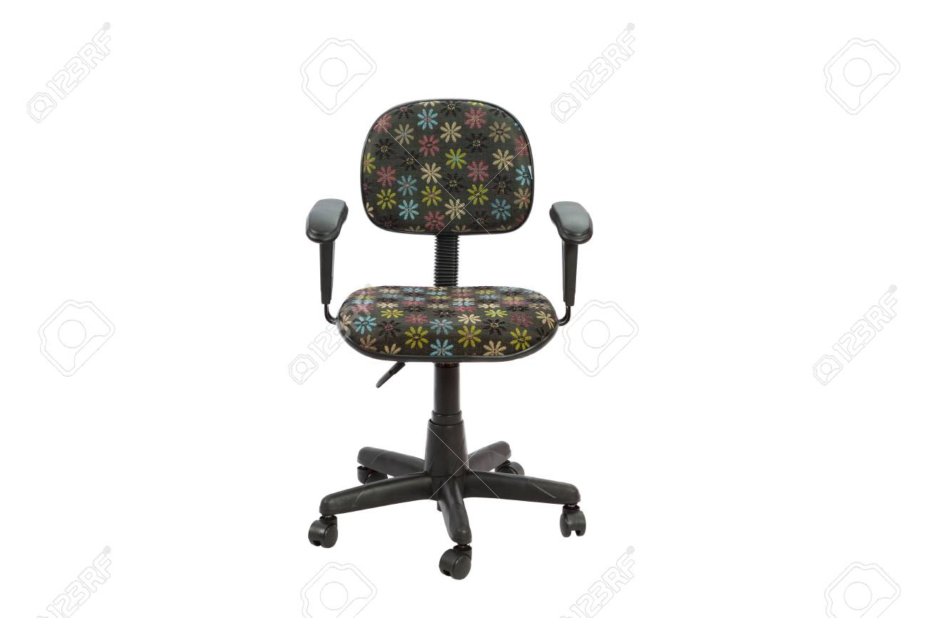 Fabulous Black Floral Office A Chair Object Isolated Of Background Inzonedesignstudio Interior Chair Design Inzonedesignstudiocom