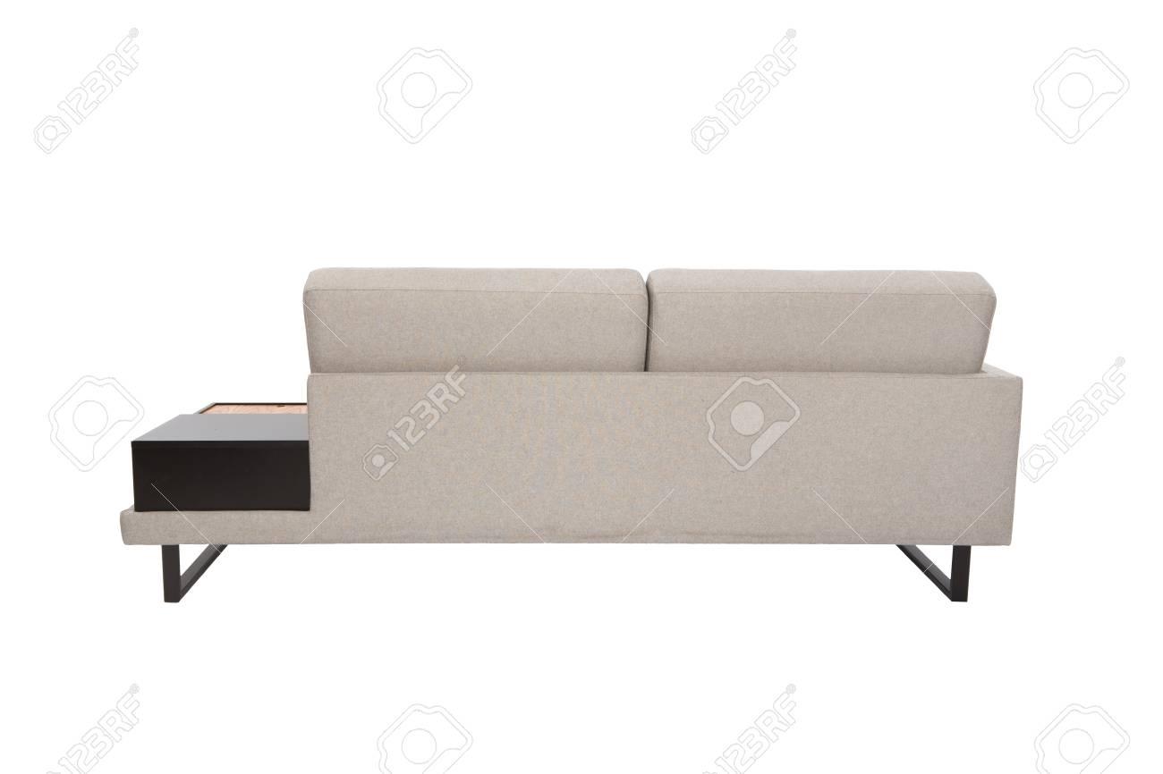 Sensational Modern Sofa Grey Fabric Isolated On White Background Machost Co Dining Chair Design Ideas Machostcouk