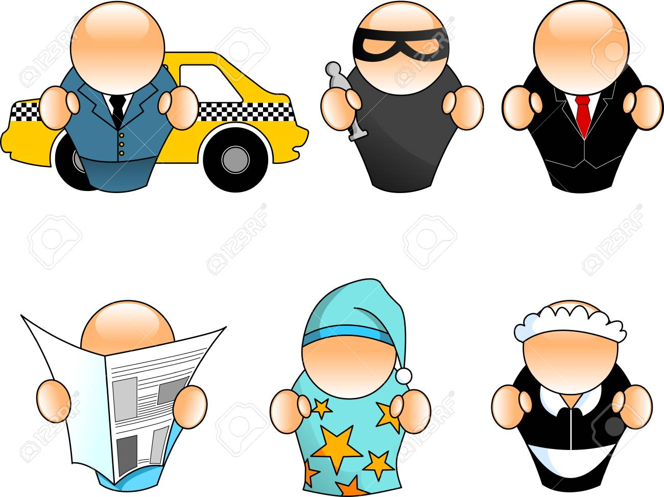 People situation icons Stock Vector - 11664778
