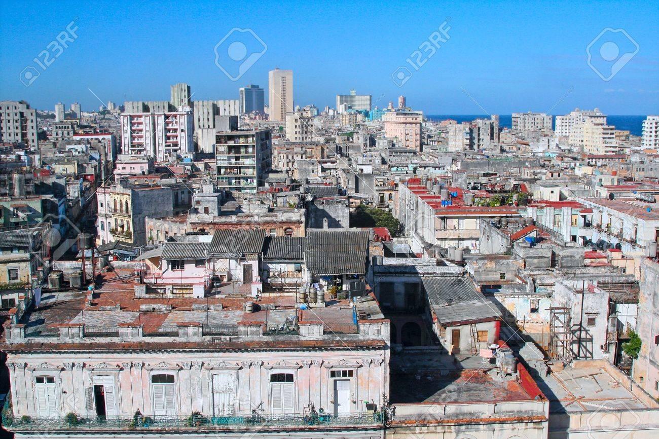 Many poverty shacks in the Cuba Stock Photo - 4815435