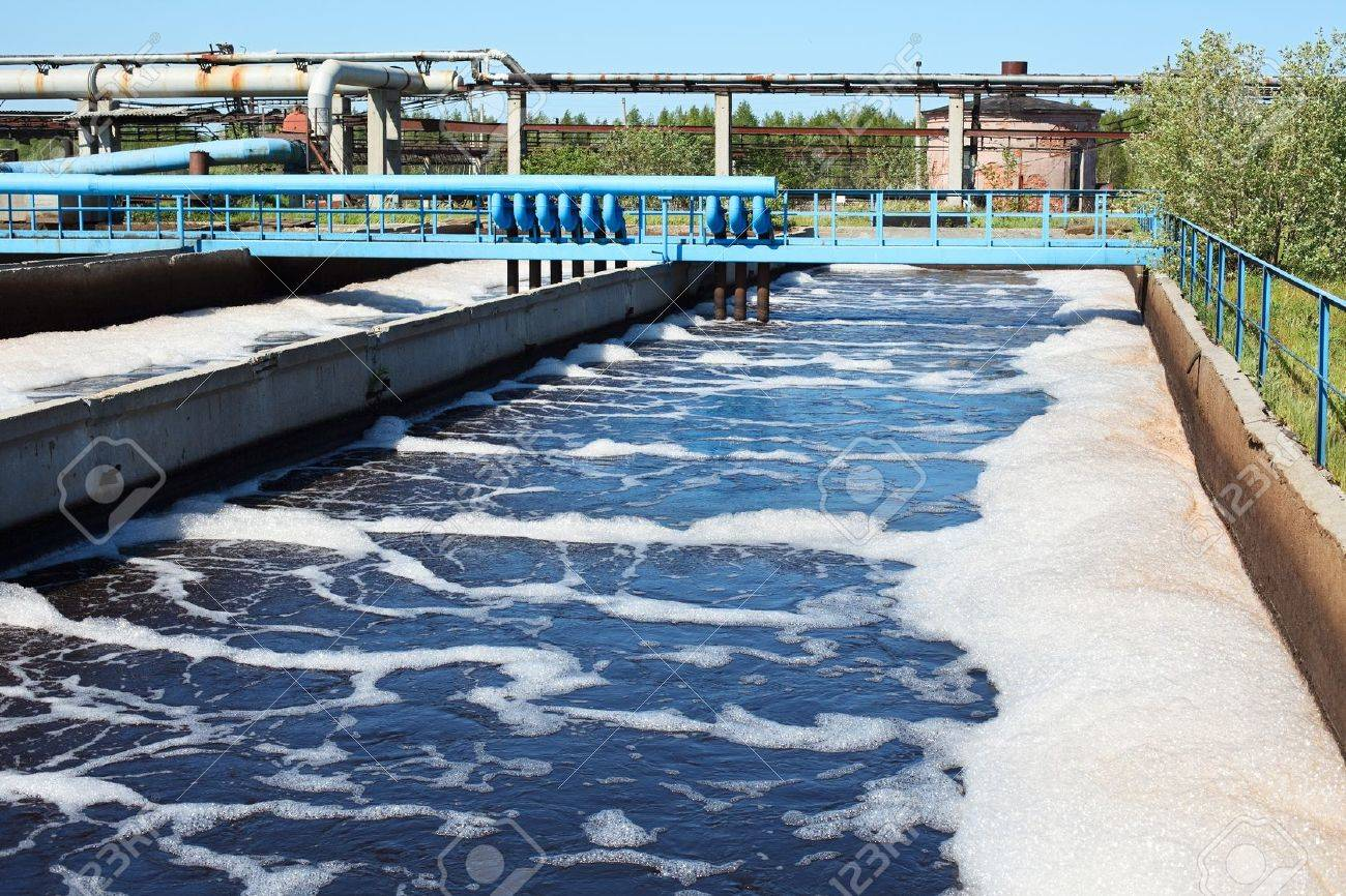 Water recycling on sewage treatment station Stock Photo - 9925249