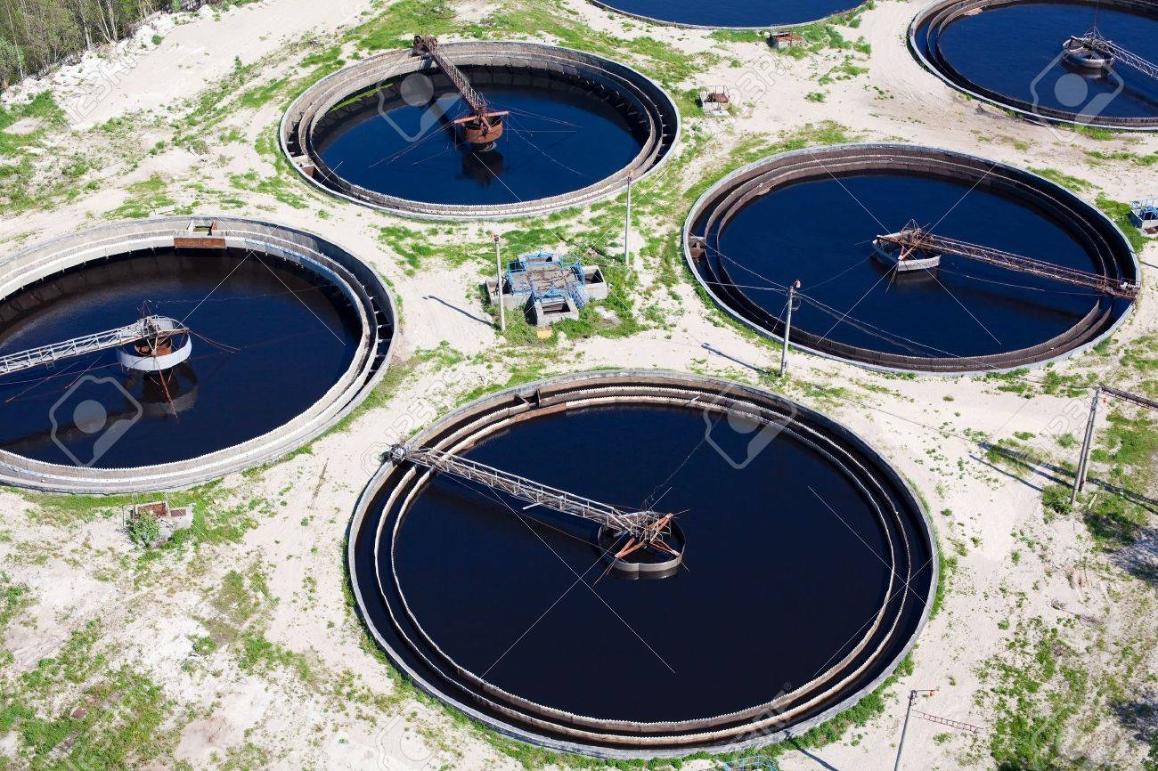 Water recycling on sewage treatment station Stock Photo - 9925497
