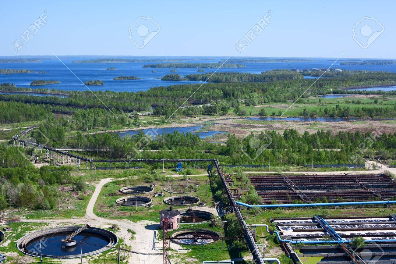 Water recycling on sewage treatment station Stock Photo - 9925503