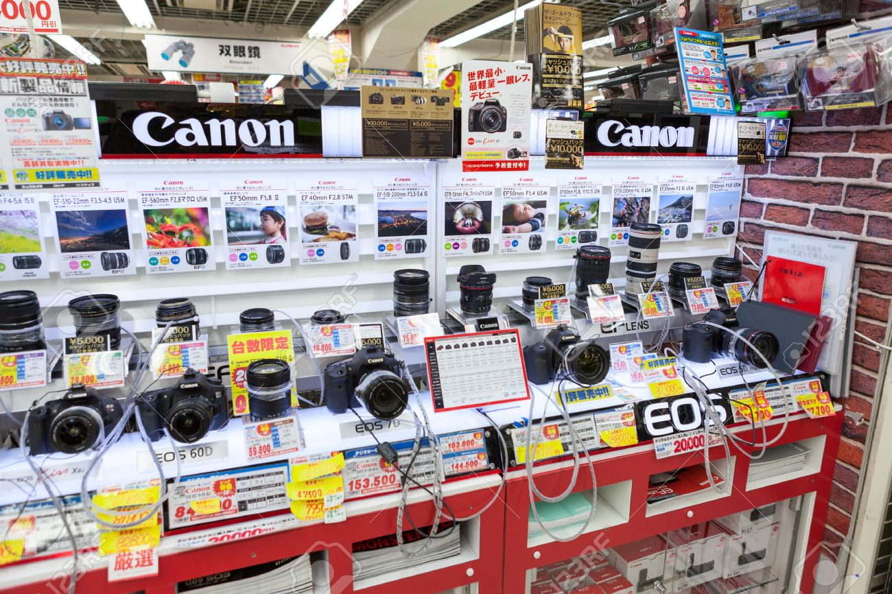 Showcase Large Japanese Store Bic Camera With Cameras And Lenses ...