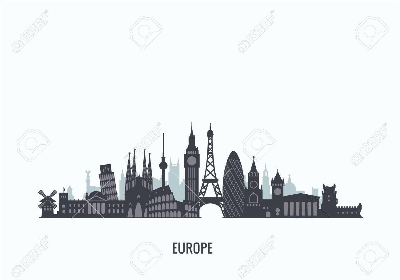 graphics, flat city illustration - 50988857