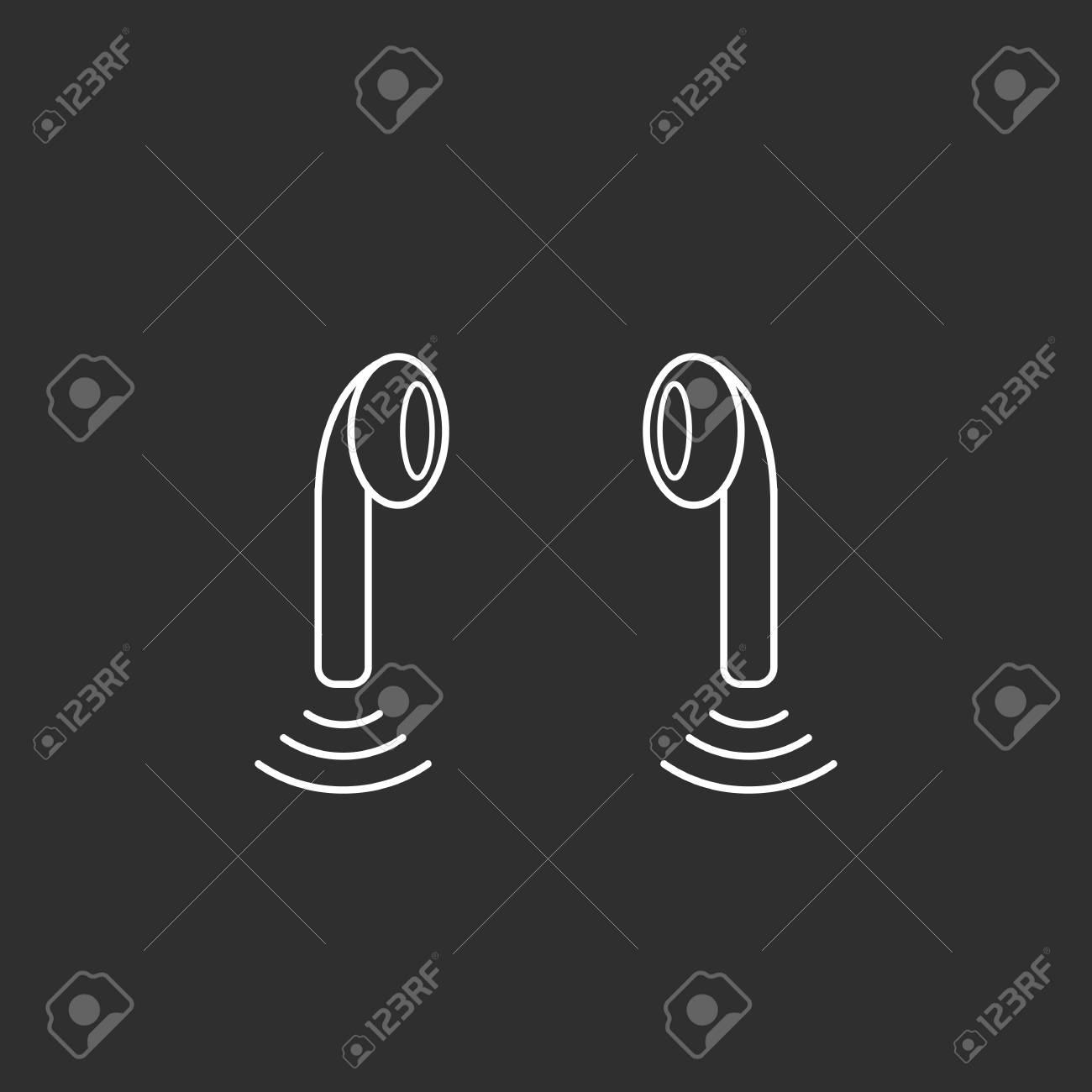 Headphones icon. Flat design Vector icon - 126561579