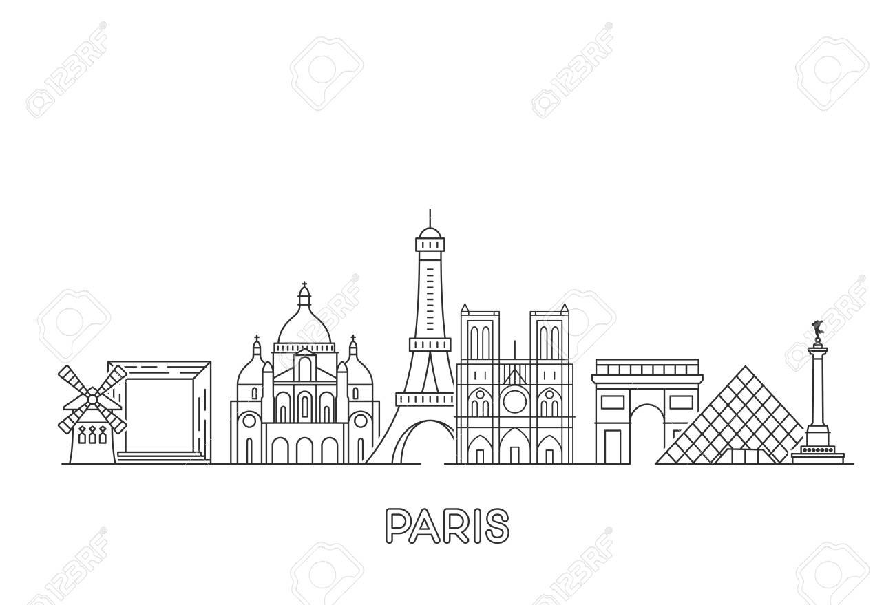 Paris vector skyline. - 120175056