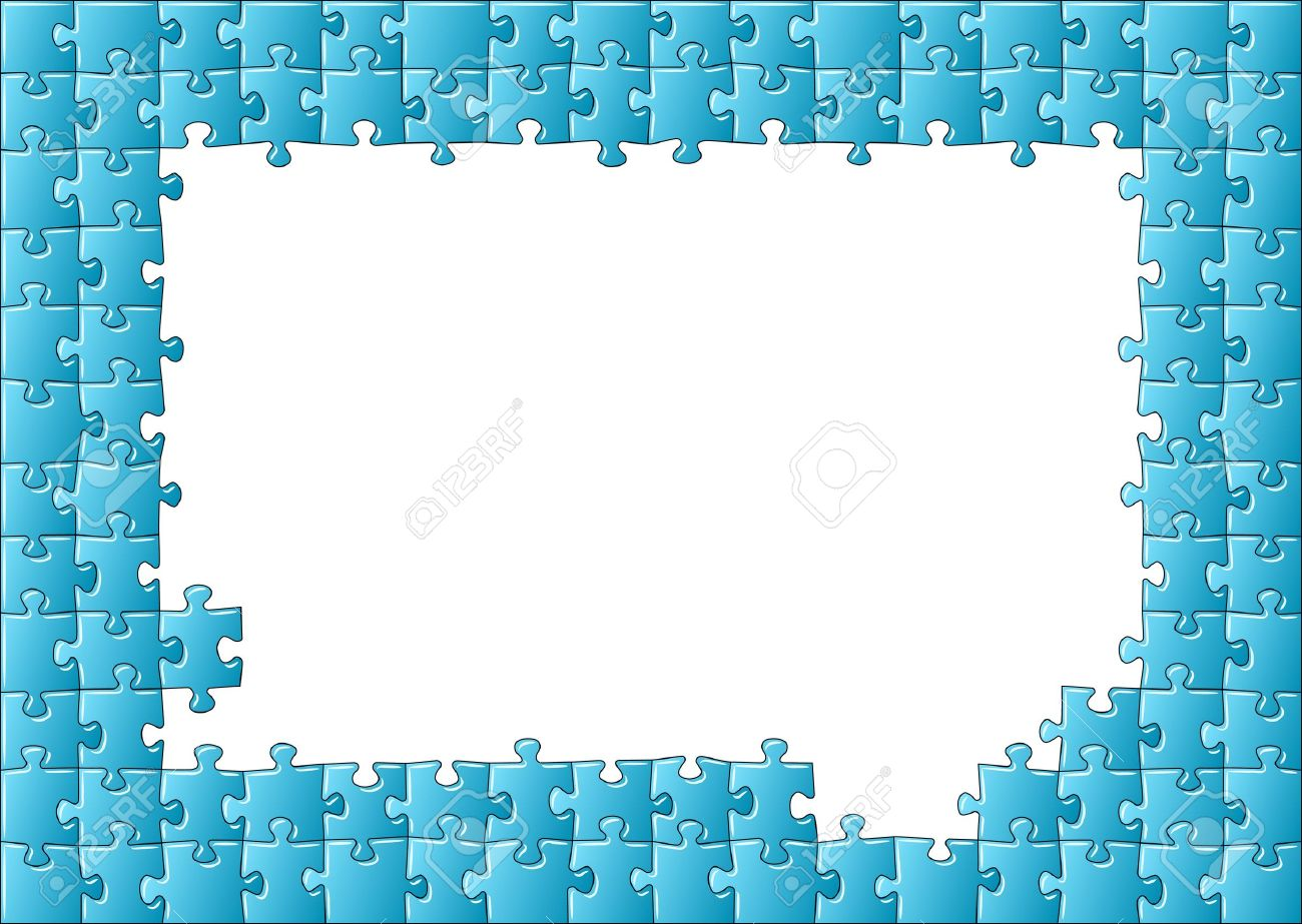 Illustration Of A Jigsaw Puzzle Frame Royalty Free Cliparts, Vectors ...
