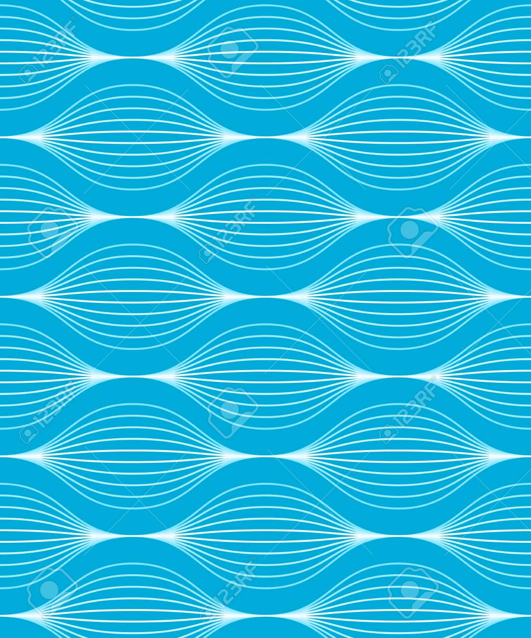 illustration of a blue seamless wave pattern with two global colors Stock Vector - 20550593